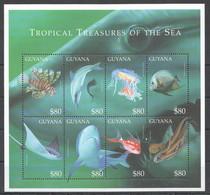 PK080 GUYANA FISH & MARINE LIFE TROPICAL TREASURES OF THE SEA 1KB MNH - Vie Marine