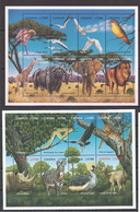 PK191 GHANA FAUNA ANIMALS BIRDS WILDLIFE OF AFRICA 2KB MNH - Autres