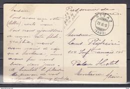 Postkaart Van Rivaz (Vaud) Naar Montano S/Seine - Briefe U. Dokumente