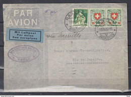 Brief Van Basel 11 Bachletten Naar Rio De Janeiro Mit Luftpost - Briefe U. Dokumente