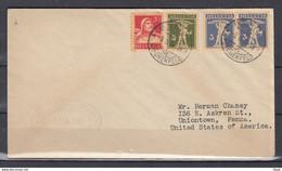 Brief Van Bern Kirchenfeld Naar Uniontown Penna - Briefe U. Dokumente