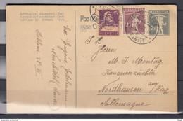 Postkaart Van Neuchatel Transit Naar Nordhausen (Duitsland) - Briefe U. Dokumente