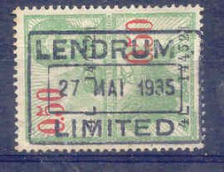 F398-België  Fiscale Zegel   Stempel  LENDRUM LIMITED - Stamps
