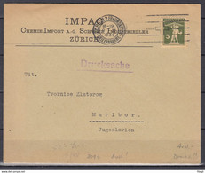 Brief Van Zurich 2 Fraumonster Briefannahme Naar Maribor (Jugoslavie) - Briefe U. Dokumente