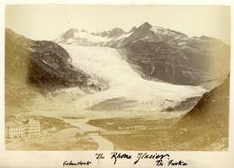 Albumen Photo - Rhône Glacier SWITZERLAND (15.5 X 10cm) - Anciennes (Av. 1900)