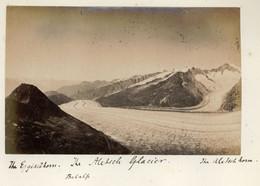 Albumen Photo - Aletsch Glacier SWITZERLAND (15.5 X 10cm) - Anciennes (Av. 1900)