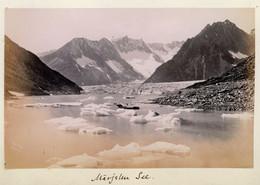 Albumen Photo - Lac De Märjele SWITZERLAND (15.5 X 10cm) - Anciennes (Av. 1900)