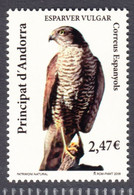 Andorra Sp 2009, Bird, Birds, Eurasian Sparrowhawk, 1v, MNH** - Arends & Roofvogels