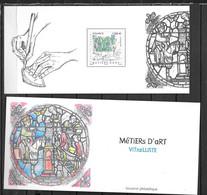 2021 - Métiers D'Art - Le Vitrailliste - Foglietti Commemorativi