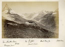 Albumen Photo - Matterhorn SWITZERLAND (15.5 X 10cm) - Anciennes (Av. 1900)