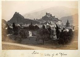 Albumen Photo - Sion, Valley Of The Rhone SWITZERLAND (16 X 10cm) - Anciennes (Av. 1900)