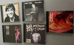 5 C.D. De Iggy Pop : Fun House (The Stooges-1970- 7 Titres) -The Idiot (1990 - 8 Titres) - Lust For Life (1990 - 9 Titre - Rock