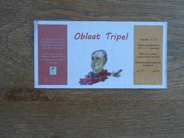 ETIQUETTE BIERE DEN TRIEST OBLAAT TRIPEL - Birra