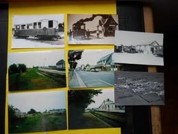Photo ,TRAMWAY Et Gares Du CALVADOS , Collection Bourneuf ,lire Descriptif ,Dives ,Caumont L'Eventé,Isigny - Treni