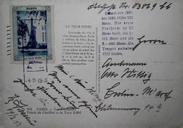 H 10 1939/45  Lettre /carte /documents  Carte Postale Tour Eiffel En Feldpost - Guerra Del 1939-45
