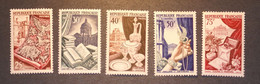 Lot Timbres France * N° 970 à 974 (1954) (2 Photos) - Ohne Zuordnung