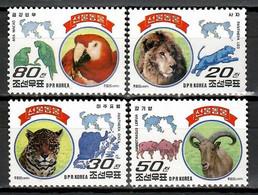 Korea 1997 Corea / Mammals Big Cats Birds MNH Mamíferos Aves Felinos Vögel Säugetiere / Hs92  7-4 - Big Cats (cats Of Prey)