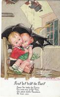 Illustrateur, Enfants , Parapluie, Sous Les Toits De Paris, Signée Mauzan , 2 Scans - Mauzan, L.A.