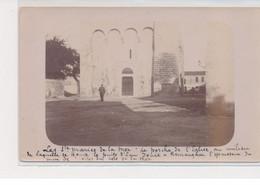 LES SAINTES MARIES DE LA MER : Carte Photo Du Porche De L'église - Très Bon état - Saintes Maries De La Mer