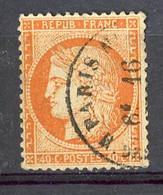 FR - Yv. N° 38c (o) 40c  Orange Vif Cachet à Datecote 15 Euro BE  2 Scans - 1870 Siege Of Paris
