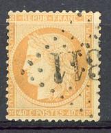 FR - Yv. N° 38B (o) 40c  Orange Clair Cachet Gros Chiffres 12 Euro BE  2 Scans - 1870 Siege Of Paris