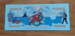 Belgium/USA - Kuifje/Tintin Reporter And Snowy - 1 Million Tintin Dollars - Commemorative Note - UNC - Otros Accesorios