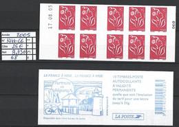 ANNEE 2005 SPLENDIDE LOT DE LUXE CARNET NON PLIER N° 3744-C6 NEUF (**) CÔTE 25.00 € Y&T A SAISIR!!!!!! - Commemoratives