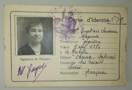CARTE Identité - 1939 - Avec Divers Contrôles - Cachet Francisque Maire Des Essarts, Vendée - WW2 - Fiscaux - Documentos Históricos