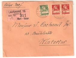 """Envoi """"VALEUR 300 Fr"""" Pour Winterthur Voir Description Pas De Renouvellement - Covers & Documents"""