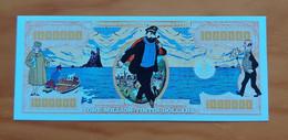 Belgium/USA - Kuifje En Kapitein Haddock/Tintin And Captain Haddock - 1 Million Dollars - Commemorative Note - UNC - Otros Accesorios