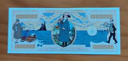 Belgium/USA - Kuifje En Professor Calculus/Tintin And Professor Calculus - 1 Million Dollars - Commemorative Note - UNC - Otros Accesorios