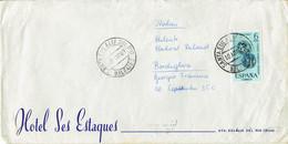 Spanien / Spain - Umschlag Echt Gelaufen / Cover Used (f1210) - 1961-70 Cartas