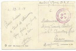 Guerre D'Orient -1919 - VAGUEMESTRE-D'ETAPES N°1 * S.P. 604 * Rouge,  Sur Carte De Chiavari (Italie) - WW I