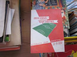 Football Jugoslavija Cehoslovacka Beograd 30 IX 1956 - Programs