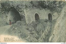 WW 38 DAUPHINE. Route De Saint-Guillaume à Miribel-Lanchâtre 1907 Animation (pli Coin Droit) - Altri Comuni
