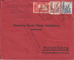 Espagne Lettre Censurée Palma De Mallorca Pour L'Allemagne Via Rome 1938 - 1931-50 Cartas