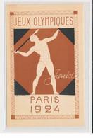 """SPORTS : JEUX OLYMPIQUES PARIS 1924 - Illustrée Par Blanche """"le Javelot"""" - (entier Postal Pasteur) - Très Bon état - Giochi Olimpici"""