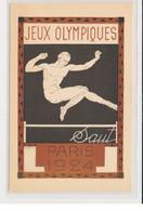 """SPORTS : JEUX OLYMPIQUES PARIS 1924 - Illustrée Par Blanche """"le Saut"""" - (entier Postal Pasteur) - Très Bon état - Giochi Olimpici"""