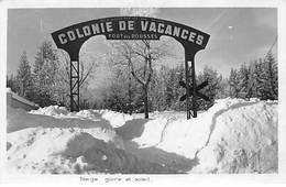 Colonie De Vacances Du FORT DES ROUSSES - Neige, Givre Et Soleil - Très Bon état - Sonstige Gemeinden