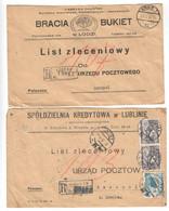 Polen , 2 Einschreiben , Dreissiger Jahre - Covers & Documents