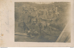 Carte-Photo : Portrait Groupe Militaires - Première Guerre Mondiale (28/11/1915) 1.WK - WW1 (BP) - War, Military
