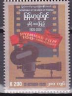 Myanmar 2020, Postfris MNH, 100 Years Film In Myanmar - Myanmar (Burma 1948-...)