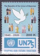 Myanmar 2020, Postfris MNH, U.N. 75 Year - Myanmar (Burma 1948-...)