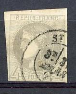 FR - Yv. N° 41B Report 2 (o) 4c Gris Cachet Type 17 Cote 400 Euro BE R 2 Scans - 1870 Uitgave Van Bordeaux
