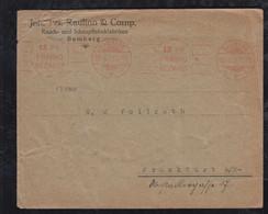 Deutsches Reich 1921 AFS Meter Freistempler Brief 15Pf FRANKO BEZAHLT Bamberg Nach Frankfurt - Covers & Documents