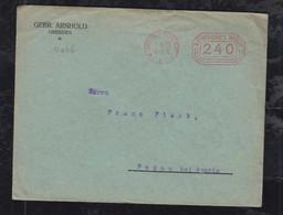 Deutsches Reich 1923 AFS 240M Meter Freistempler Brief Dresden 1.6.23 Nach Pokau - Covers & Documents