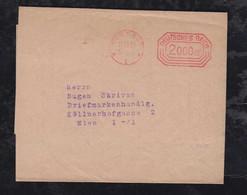 Deutsches Reich 1923 AFS 2 Million Mark Meter Freistempler Streifband Pössneck 11.10.23 Nach Wien Austria - Covers & Documents