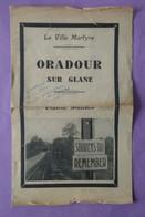 Oradour Sur Glane Documentation 10 Juin 1944 14cm Par 23cm - A Prendre En L Etat - - Non Classés