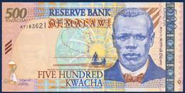 MALAWI 500 KWACHA P-48Aa Reverend John Chilembwe, Lake Malawi - Lilongwe 2003 UNC - Malawi