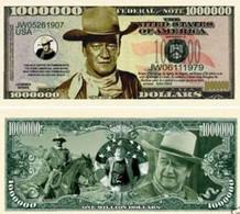 USA 1 Million Dollar Novelty Banknote 'John Wayne' - Legend Series - NEW - UNCIRCULATED & CRISP - Other - America